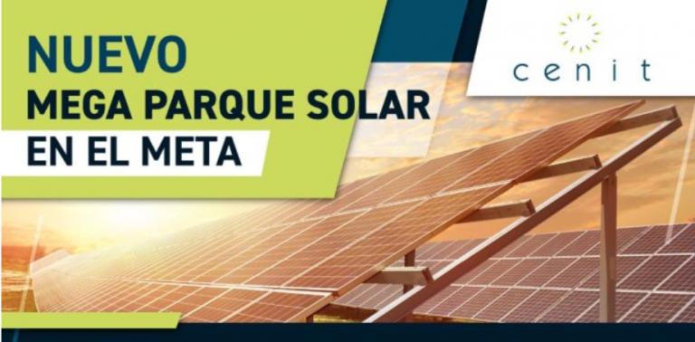 Grupo Ecopetrol, a través de Cenit, adjudicó contrato para la construcción de nuevo megaparque solar en el Meta